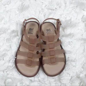 Mel by Melissa the Fox girls beige jelly sandals